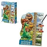 Clementoni Puzzle Messlatte | Arlo & Spot | 62 x 42 cm | Disney Good Dinosaur