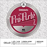 D\'Addario Bowed Corde seule (Do) pour violoncelle D\'Addario Pro-Arte, manche 4/4, tension Medium