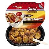 Currywurst - Rostbratwurst mit Currysoße, Currypulver in derSnack to go- 6 Menüschalen a 0,220g Currywurst Schale von Dieter Hein NEU 220g NEU