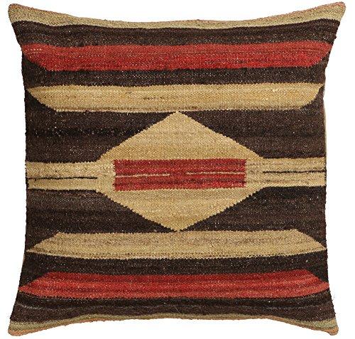Vente, faite à la main authentique Kilim Housse de coussin Taie d'oreiller style vintage, 58 cm x 58 cm/55,9 cm/55,9 cm (1324) Liquidation de stock