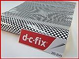 D C FIX vinilo autoadhesivo blanco y negro cuadros 45cm x 1m, 1rollo