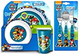 Paw Patrol 'Good Pups' 6-Piece Dinner Set | Tumbler, Bowl, Plate, Knife, Fork and Spoon