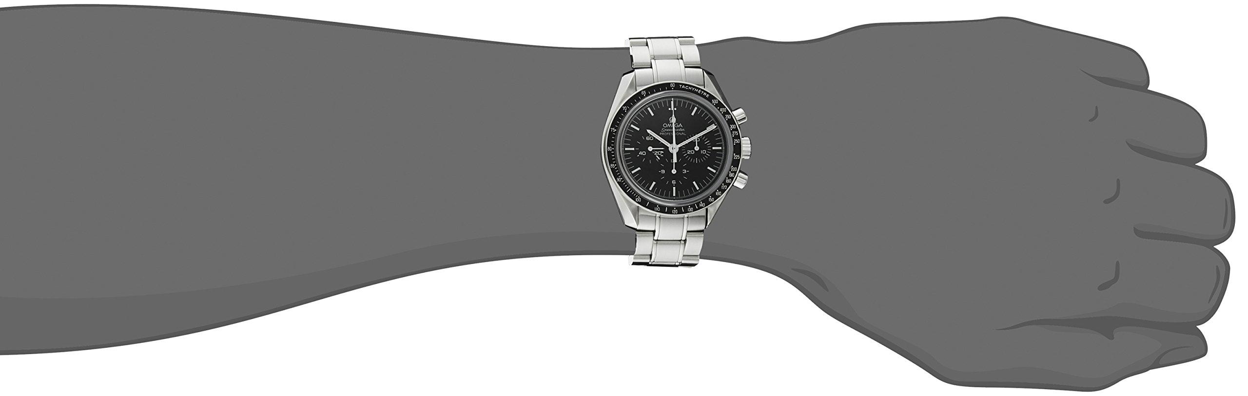 "Omega Speedmaster Professional ""Moonwatch"" - Reloj (Reloj de Pulsera, Acero Inoxidable, Acero Inoxidable, Acero Inoxidable, Acero Inoxidable, Hesalita) 3"