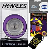 Henrys CORAL SNAKE YoYo (Violet) Looping Trick (2A) Professionnelle Métal Roulement...