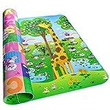 Golden Rule Alfombra para niños suave para jugar niños y bebés lados dobles diseño animal resistente al agua 200X180CM