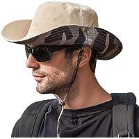 WANYIG Double-Sided Fisherman Hat Cappello da Pescatore per Pesca Cappelli Uomo Estivo con Protezione UV
