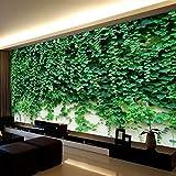 Wandgemälde Gewohnheit Irgendeine Größe 3D Wandbilder Tapete Grüne Reben Blätter Klettern Tiger Hintergrund Wanddekor Wandbild Seidenwandpapierrollen,180Cm(H)×280Cm(W)