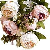 FRISTONE Vintage Pfingstrosen/seidenblumen/Pfingstrosen künstlich/kunst blumen Sträuße Home Hotel Hochzeit deko blumen (Rosa)