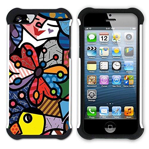 Graphic4You Mermaid Underwater Design Hart + Weiche Kratzfeste Hülle Case Schale Tasche Schutzhülle für Apple iPhone SE / 5 / 5S Design #4