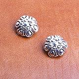 Boucle d'oreille cabochon argenté ou doré à pince collection bijou fantaisie haute couture fait main 100% made in France.