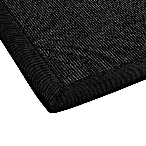 BODENMEISTER Sisal-Optik In- und Outdoor-Teppich Flachgewebe modern hochwertige Bordüre, verschiedene Farben und Größen, Variante: schwarz anthrazit, 200x290
