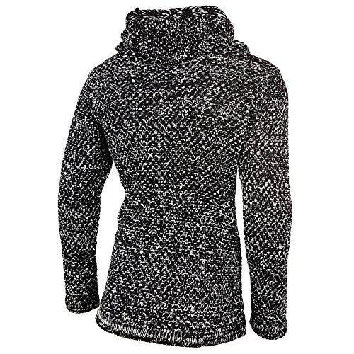 Rusty Neal Herren Strick Jacke Oversize Pullover long Cardigan Knit RN-13260 NEU Schwarz