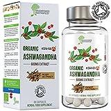 BIO Ashwagandha KSM66® | 600mg Dosis | zertifiziert | 5% Withanolide (30mg) | vegan, glutenfrei, halal, koscher | Geld-zurück-Garantie