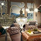MIA Light Orientalische Kronleuchter Ø730mm/ Orient/Golden/ Messing/Amber/ Lampe Leuchte Lüster Arabische Marokkanische Lüsterlampe Lüsterleuchte