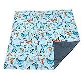 LIght Weight, Waterproof, Family Picnic Mat 140cm x 140cm. Butterflies print.
