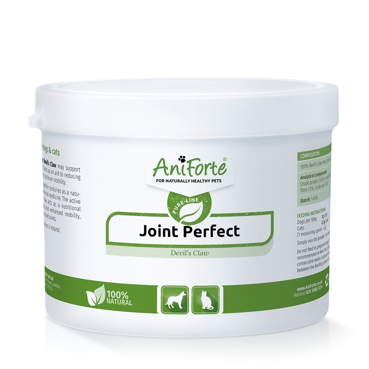 AniForte Devil's Claw Root 250g: Joint Supplement for Dogs & Cats Purely natural joint product