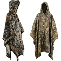 Waterproof Raincoat Poncho, Aodoor camo waterproof poncho Raincoat for Hunting Camping Military and Outdoor Activities