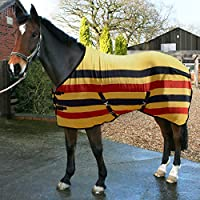 Traditional New Market Striped Horse Fleece Rug Stable Travel Show AND Tigerbox® Antibacterial Pen!