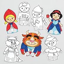 Baker Ross Marionetas de Dedos con Personajes de Cuentos (Paquete de 30) Manualidades Infantiles