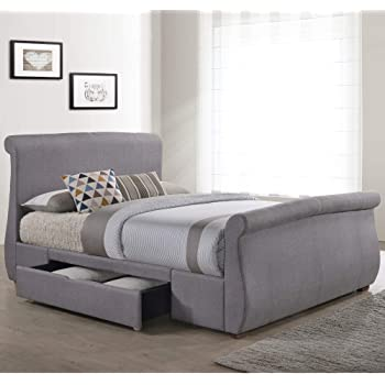 Bed Frames & Divan Bases Collection Here Double 5ft Bed With Built In 2 Drawers Elegant And Sturdy Package