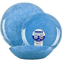 Luminarc Loft Stony Blue - Vajilla, 18 piezas, color azul