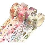 Yubbaex Washi Tape Set Decoratieve Tape Craft Supplies voor doe-het-zelf, Bullet Journal, Ambachten, Geschenkverpakking, Scra