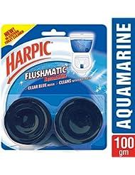Harpic Flushmatic Twin In-Cistern Toilet Cleaner (Aquamarine) - 100 g