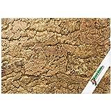 Pared posterior XL de corcho (pared posterior de terrario), pared posterior de corcho 3D, Fondo Terrario de corcho natural 90 x 60 cm