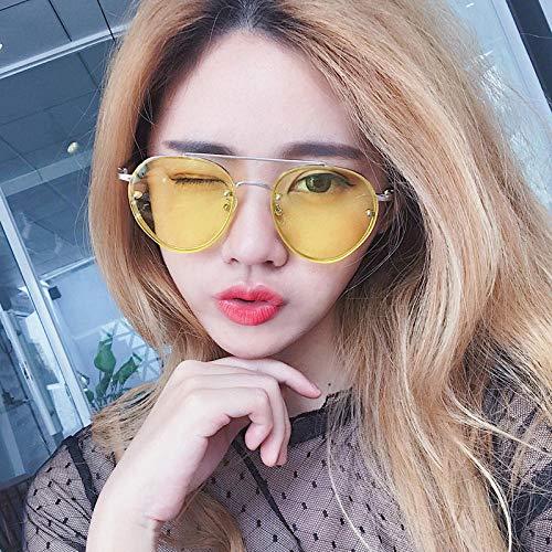 BHLTG Sonnenbrille für Männer und Frauen Paar Modelle transparente Farbe Gelee Retro-Sonnenbrille Outdoor-Sport Reise UV-Frosch Spiegel-2