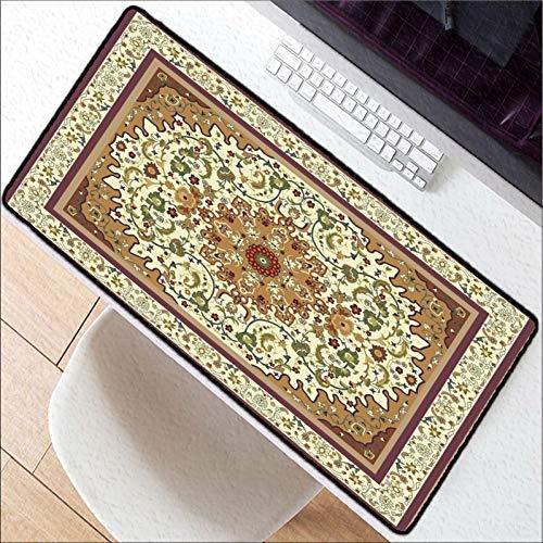 Erjiasan Persischer Teppich waschbar Mauspad groß verdicken 900 * 400 * 3 mm Sperrrand Gummi große Gaming Gamer weiche Mousepad,300X700X2MM
