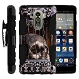LG G Stylo Cover, Belt Clip, Dual Layer Combo Armor Reloaded w/ Kickst