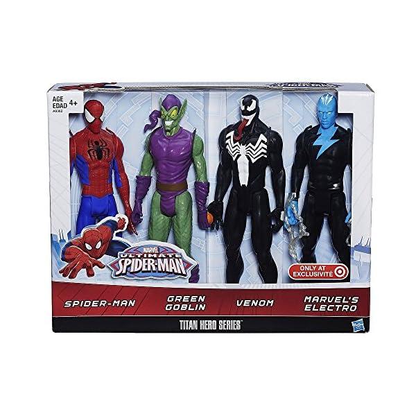Hasbro Spider-Man - Pack 4 Figuras Titan Spider-Man vs Villanos 1