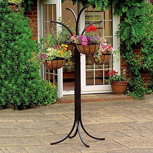 Neue 4Arm Baum Outdoor Cascade Ständer Blume Blumentopf Garten STILVOLL zum Aufhängen