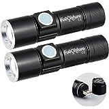 Fulighture - Mini linterna LED recargable por USB 350 lúmenes, linterna con 3 modos y extremadamente brillante, resistente al