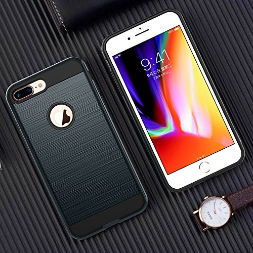 UKDANDANWEI Apple iPhone 7 Plus Hülle,Super Schild Hohe Gel Silikon Haut Slim Fit Zurück Schale Abdecken Schutzhülle Case Cover für Apple iPhone 7 Plus - Weiß Gold