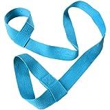 Demarkt Yogamat draagriem yogamat riem verstelbaar verstelbare katoenen riem voor alle yogamatten maten (zonder mat) blauw