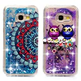 2x Coque pour Samsung Galaxy A3 2017, Etui Relief Bling Silicone Sables Mouvants TPU...