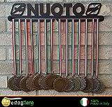 Medal display, porta medaglie, medagliere da muro, medal hanger (NUOTO design)