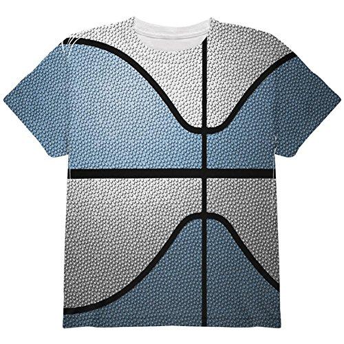 Championship Basketball Light Blue & White Ganz Jugend T-Shirt Multi YLG (Basketball-t-shirt Light Blue)