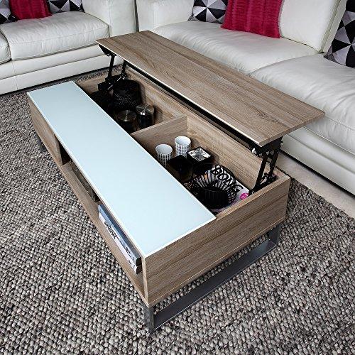 Tavolini Da Salotto Apribili.Tavolino Da Salotto Tessuto Apribile Vetro Melamina