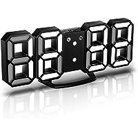 CENTOLLA Réveille-Matin 3D LED Digital, Horloge Murale, Horloge numérique, Timorn Réveil LED 3D avec 3 Niveaux de…