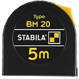 STABILA zakbandmaat BM 20 - eenvoudig meetlint voor doe-het-zelvers 5 m, cm/mm zwart
