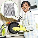 Gusseisen sauberer, und 304Edelstahl Gusseisen Scrubber, rostfrei Pfanne von mit hängenden Ring für Gusseisen Pfanne, Bratpfannen, Grillpfanne Pfannen, Backform 8