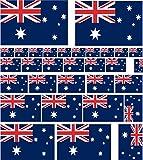25 adesivi in vinile, misure assortite, motivo: bandiera dell