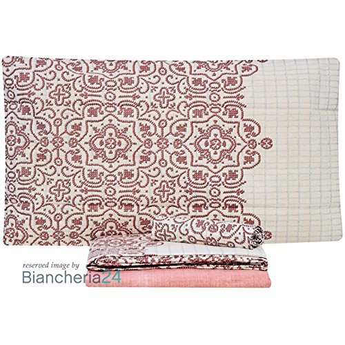 Completo lenzuola Cross Stitch di Zucchi Matrimoniale due piazze P770 ROSSO