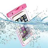Wasserdichte Tasche,Staubdichte Handyschutz Beachbag Waterproof Case für Galaxy S8/S7/S6/S6 Edge/S5, iPhoneX/8 Plus/8/6/6s/6sPlus/SE/5s, Huawei P20/Mate 10/Mate 10 Pro Usw Smartphone,Rot
