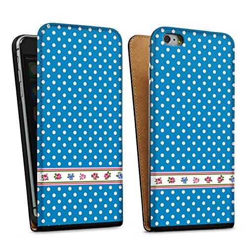Apple iPhone 5 Housse étui coque protection Points Petite fleur Fleurs Sac Downflip noir