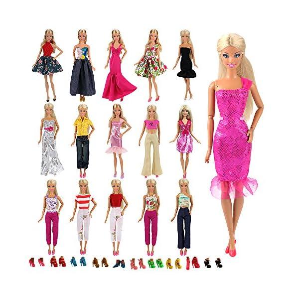 d2f45ce4388f Miunana Abiti Vestiti Pantaloni Gonne Per Barbie Dolls E KEN Dolls ...