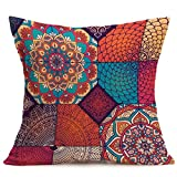 Bright Bohemian Pattern Pillow Case Indexp Sofa Home Collection Cushion Cover (Style E)