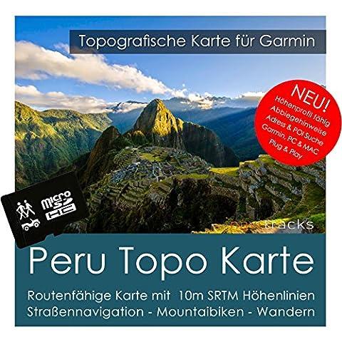 Peru Garmin Karte TOPO 8 GB microSD. Topografische GPS Freizeitkarte für Fahrrad Wandern Touren Trekking Geocaching und Outdoor. Navigationsgeräte, PC & (Garmin Nüvi 200)